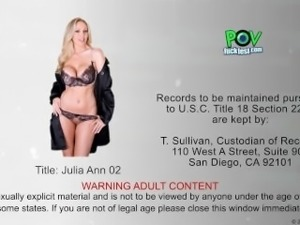 Beauty Julia Ann suck cock in POV style