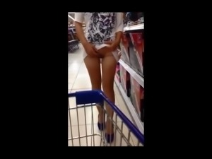 No panties mini dress flashing in store PublicFlashing.me