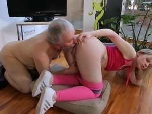 Young small tits Hardcore Old guy and blonde shaved girl