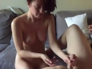 Wife fingers husband prostate