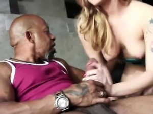 Dahlia Sky riding on the huge man meat of Shane Diesel