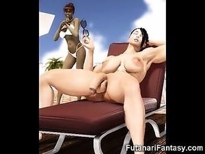 3D Hottest Futanari Babes!