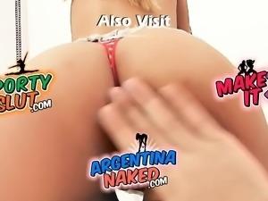 Huge Bubble Butt Latina. Big Boobs Also! Upskirt, High-Heels