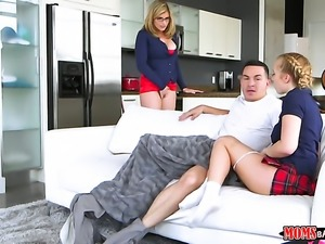 Blonde Cory Chase gets sperm covered