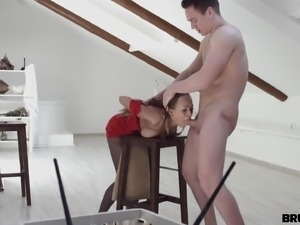 brutally fucked, while making nude painting