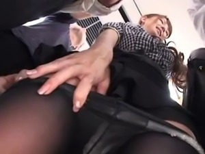 Charming Japanese floozy Tsubasa Amami rides on massive rods