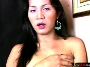 Filipino chick with dick gets her tight ass drilled bareback