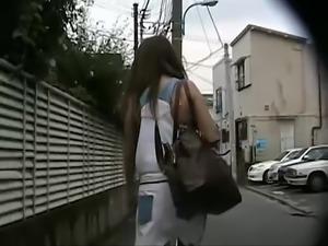 Japanese Women Get Panties Flashed by Hidden Cam Strangers #2