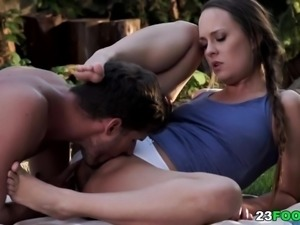 Blue Angel outdoor foot fetish sex