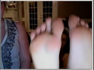 Blonde shows Feet on Chatroulette - More at nicefootjobs.com