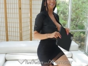 PUREMATURE Busty MILF real estate agent Romi Rain fucked