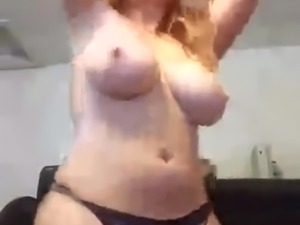 Gorgeous Chubby Redhead Shows Off Big Tits And Fat Ass