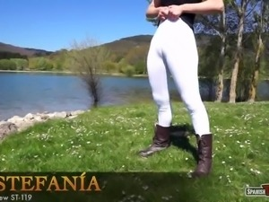 Perfect cameltoe from Spanish hot girl