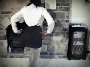 WHITE LINES - vintage jiggling black boobs dance strip