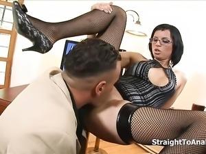 Renata Black Stubborn Secretary Anal Fucked