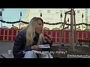 Cutie amateur european slut seduces tourist dor a street blowjob 01