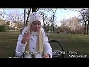 Cutie amateur european slut seduces tourist dor a street blowjob 15