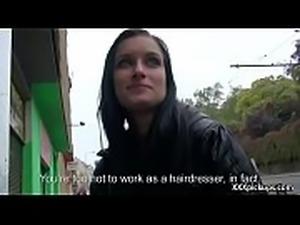 Cutie amateur european slut seduces tourist dor a street blowjob 33