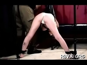 Bondage time for bulky chick