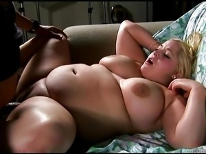 Bubbly big tits blonde BBW loves to suck, fuck and eat cum