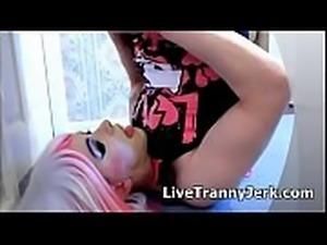 Tranny Pretty Kitty Self - Facial Slut Slow Mo Porn