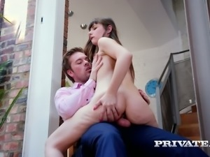 French cowgirl Luna Rival gives a damn good BJ and rides dude's dick