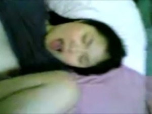 Shagging sexy Asian teen in a missionary position