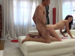 Hungry pussy of curvy nympho Mimi B is worth some wild doggy fuck