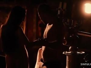 Beautiful couple having sensual sex