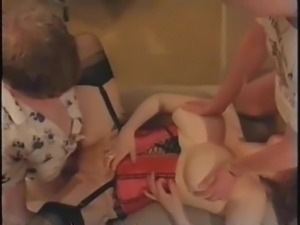 Classic Huge Natural Tits Nicky Stanton 2 Cocks