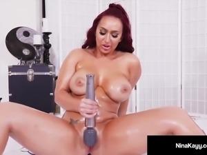 Hot Nina Kay Fucks Hitachi Till She Cums So Hard She Squirts