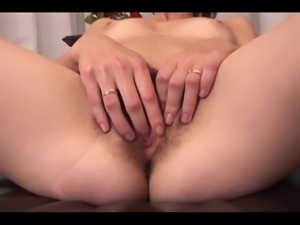 Hairy babe enjoys a nice black dick