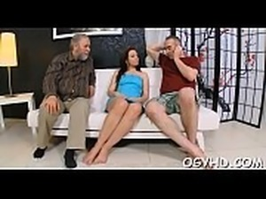 Naughty old fellow prefers to have sex with young pretty girls