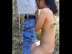 desi young nepali couple sucking and fucking outdoor