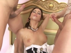 Maid Caught. Now Has To Have Both Holes Fucked To Keep Job