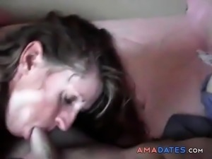 Horny wife deepthroat and prostate orgasm