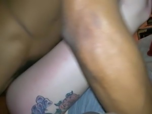 Amazing Tattoed Cuckold GF Shared With BBC