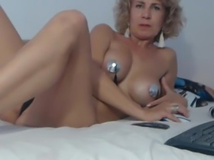 Elegant blonde mature