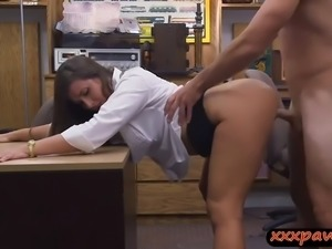 Big ass woman gets rammed by pawn dude at the pawnshop