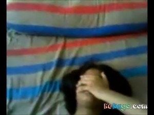 shy bangla maid hides face