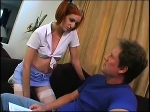 Sexy asian and redhead lick pussy