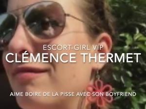 Clemence Thermet escort-girl aime boire de la pisse