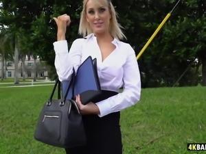 Busty teacher fucks on the Bangbus