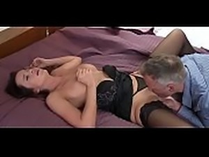 Busty bitch doing lovely creampie by her guy