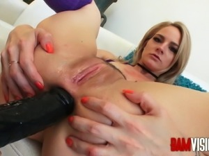Bamvisions Lisey Sweet Anal Gape Tryout with Mick Blue