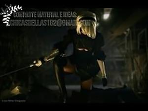 2b nier automata cosplay disharmonica