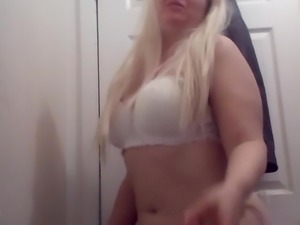 Sexy blonde sings a  song