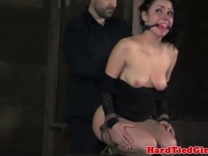 Submissive bitch gets humiliated by powerful master
