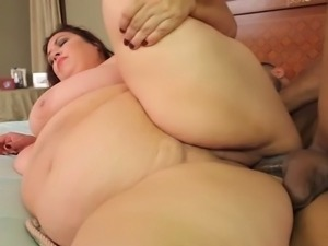 Huge titted Latina bbw Rikki Waters gets rammed.