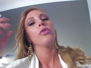 More behind the scenes fun with Samantha Saint